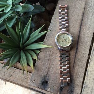 New York & Co. Gold Link Heavy Fashion Watch